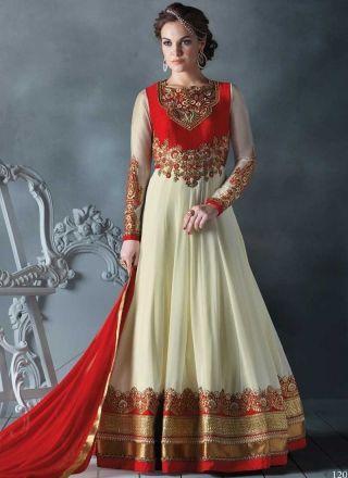 Amazing Off White With Red Designer Long Anarkali Salwar  Kameez http://www.angelnx.com/Salwar-Kameez#/sort=p.date_added/order=DESC/limit=32/page=28