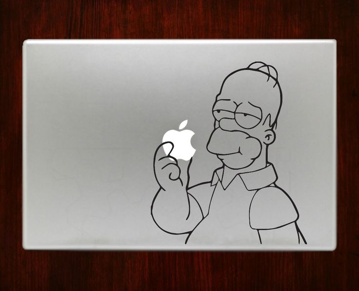 Homer simpson decal sticker vinyl for macbook pro air decal sticker vinyl for macbook pro
