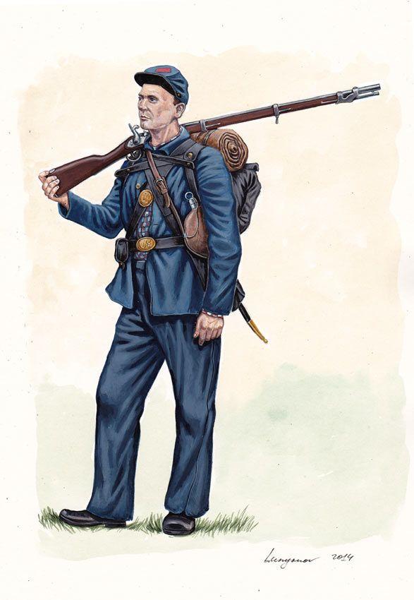 Union; 105th Pennsylvania Infantry, Army of the Potomac, Summer 1862. By Sascha Lunyakov.