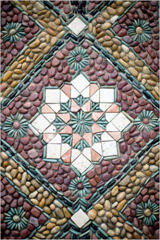 Jeffrey Bale's designs include from abstract to representative  of high quality stone work and pebble mosaics on patios, gardens, paths, walls, steps and fountains —He points out that designi…