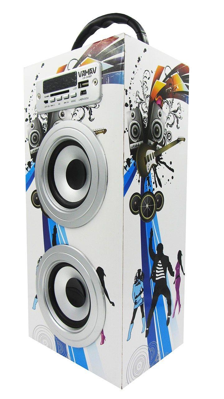 Altavoz Caja Portátil con Bluetooth, Radio, SD, USB, MP3, Inalámbrico y Con Batería Recargable 99612 - https://complementoideal.com/producto/audios/altavoz-caja-portatil-con-bluetooth-radio-sd-usb-mp3-inalambrico-y-con-bateria-recargable-99612/  - Altavoz Portátil Bluetoothcon el que podrás escuchar toda tu música sin necesidad de cables y en cualquier lugar, conecta todos tus dispositivos mediante la tecnologíaBluetooth fácilmente y comienza a divertirte. Altav