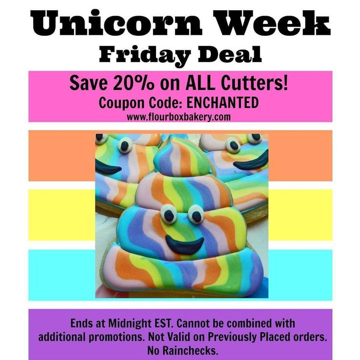 "94 Likes, 1 Comments - Flour Box Bakery (@flourboxbakery) on Instagram: ""It's Unicorn Week and we are running a SPECIAL DEAL each day!! Today, for our last promotion, SAVE…"""