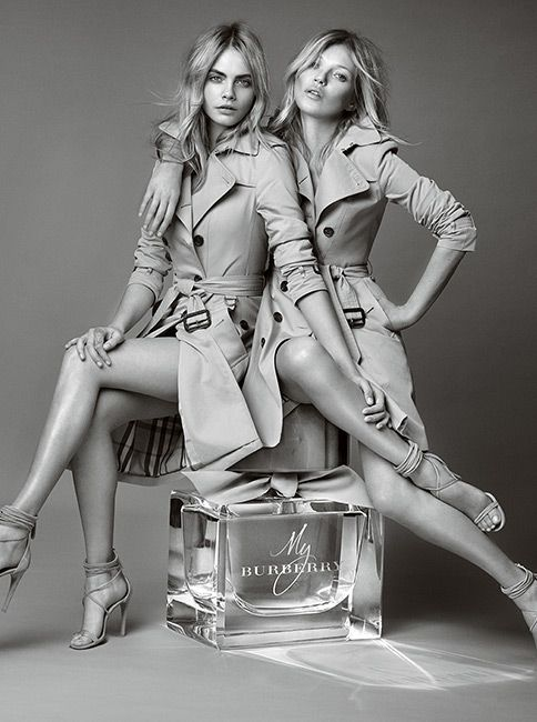 British icons Kate and Cara personify the spirit of My Burberry