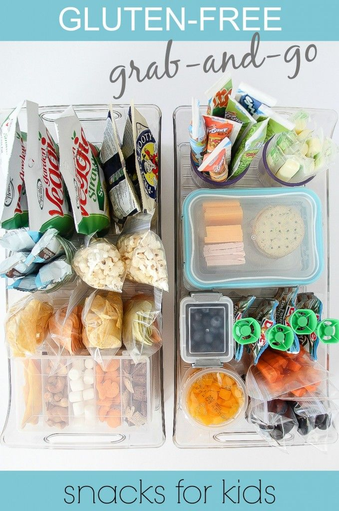 Gluten-free grab and go snacks for kids on the go