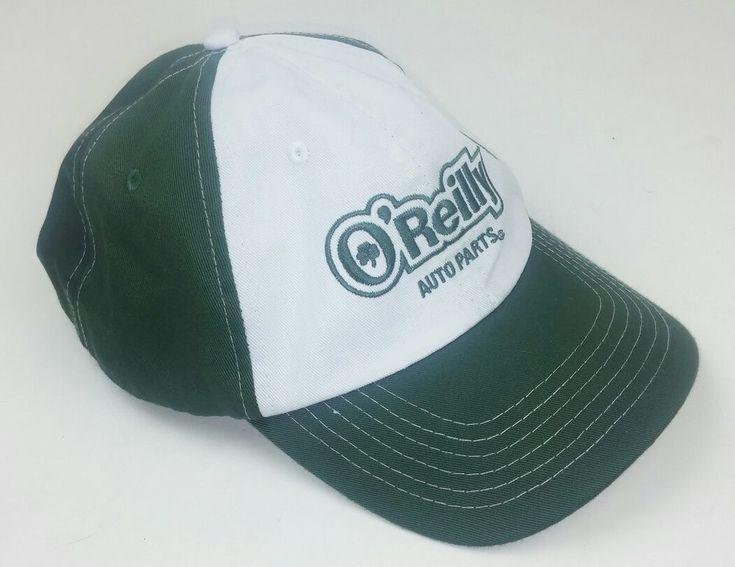 O'Reilly Auto Parts Hat Trucker Green White Logo Adjustable Snapback Clover  #OReilly #TruckerHat