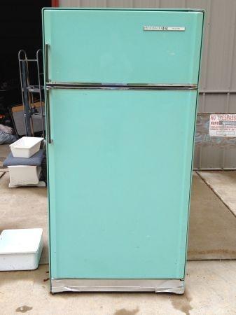 vintage turquoise refrigerator garage sale treasures