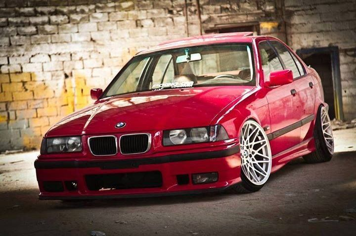 Bmw E36 3 Series Slammed Red Bmw Ultimate Driving