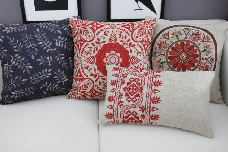 Chinese pillow cover, Chinese pillow case, Chinese patterns cotton linen throw pillow cover pillowcase Wholesale #Affiliate