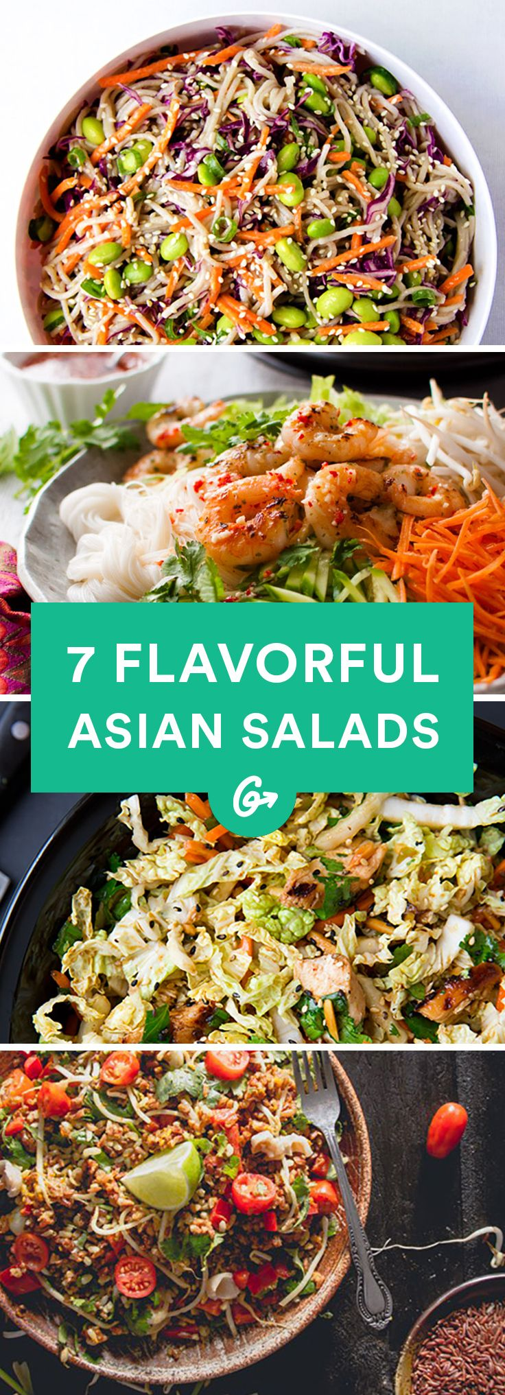 Shake up your lunch (or dinner) routine. #healthy #asian #salad #recipes http://greatist.com/eat/asian-salad-recipes-that-are-packed-with-flavor