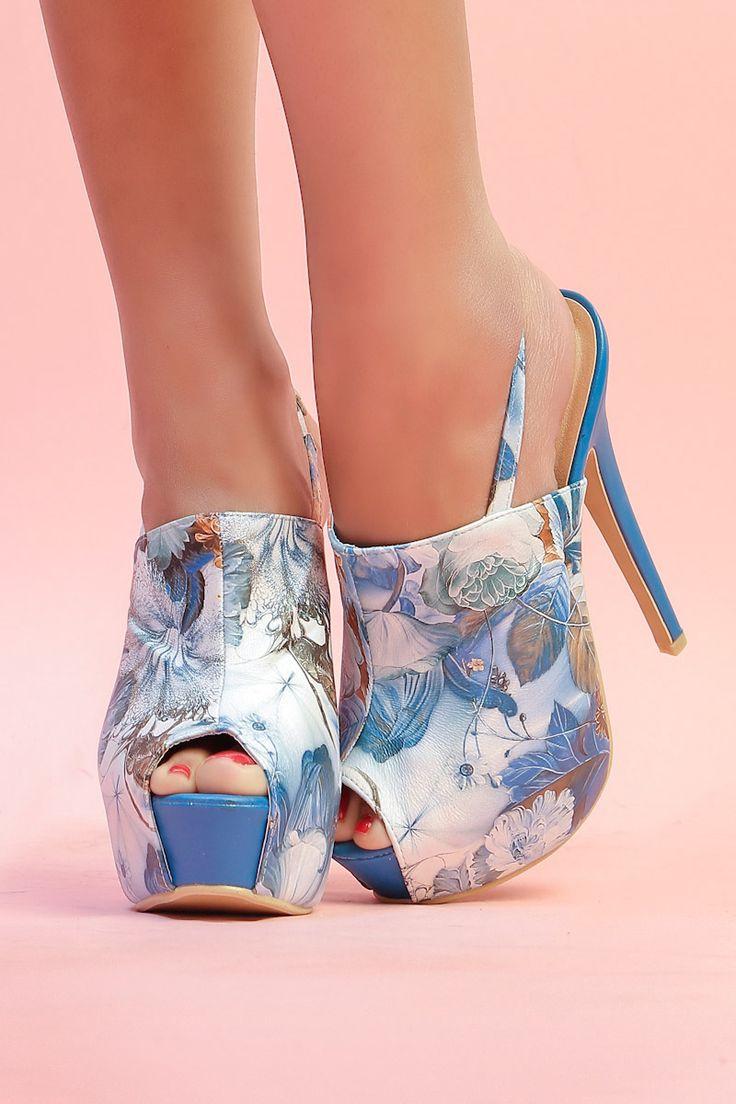 Sandales Bleues - INFINIE PASSION