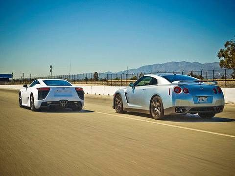 Drag Race: 2012 Lexus LFA vs 2010 Nissan GT-R  I'd be happy with either.