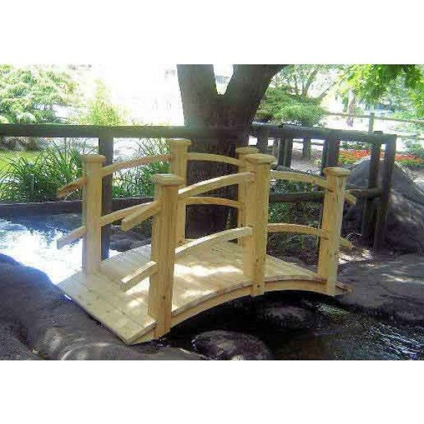 Garden Bridges Home Depot | Cedar Colonial Garden Bridge Shown From Side