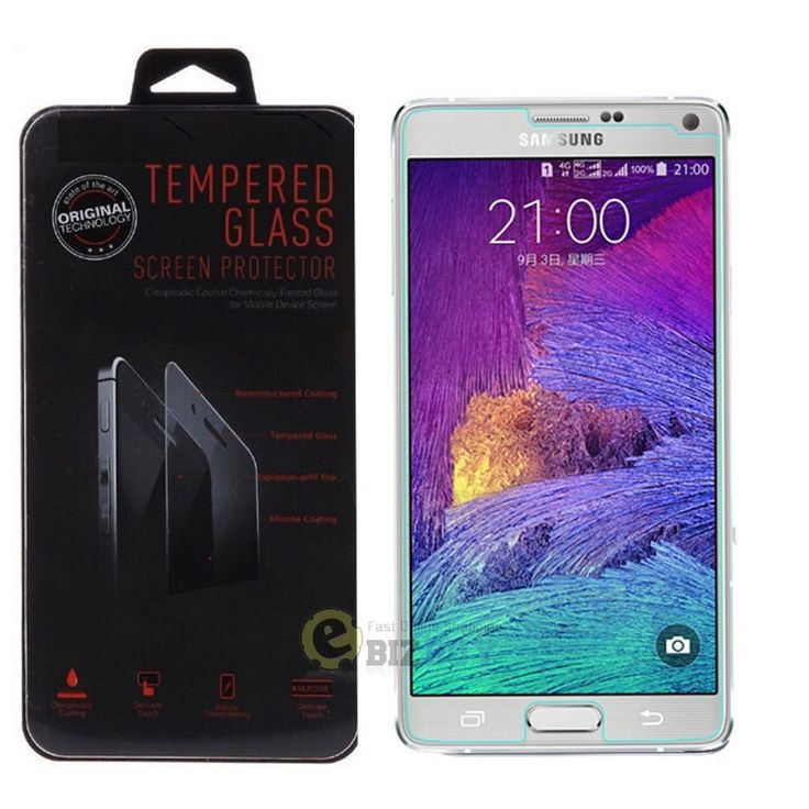 New Premium Real Tempered Glass Film Screen Protector for Samsung Galaxy Note 4  New Premium Real Tempered Glass Film Screen Protector for Samsung Galaxy Note 4