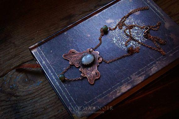 #бохо #gipsy #bohochic #darkboho #witch #witchy #fantasy #handmade   Witchy copper necklace boho witchy jewelry boho-chic от KarmaNoire