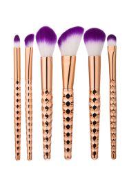6Pcs Honeycomb Shape Handle Makeup Brushes Set
