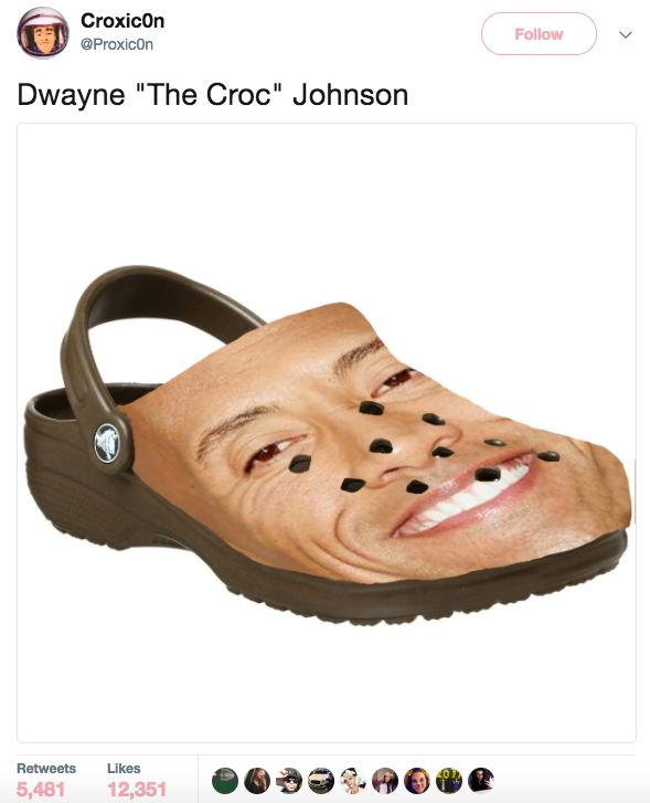 When The Rock makes your feet comfortable but also heinous: