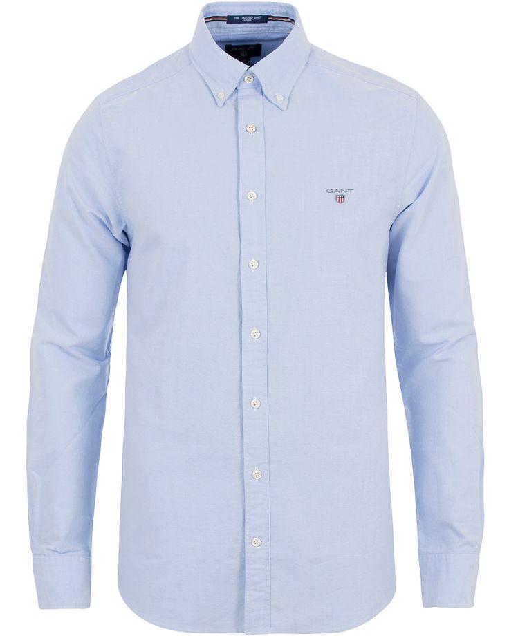 Gant Fitted Body Oxford Shirt Capri Blue i gruppen Skjortor / Oxfordskjortor hos Care of Carl (13681411r)