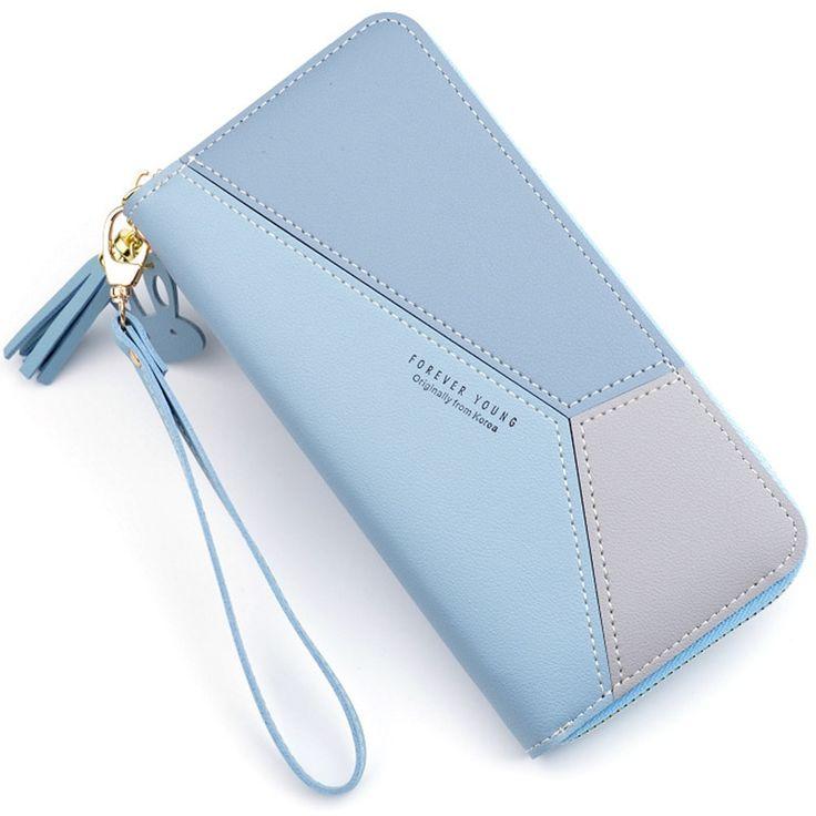 Geometrische Frauen Kupplung Rosa Geldbörsen Telefon Tasche Geldbörse Karte Halter Patchwork …