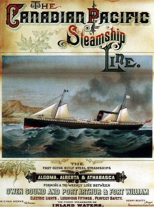 1884 Canadian Pacific Steamship Line Poster