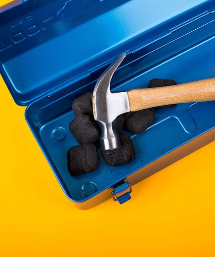 Charcoal as Dehumidifier | Want a trusty—not rusty—hammer? Stow a lump of charcoal in your toolbox to slow corrosion on hardware.