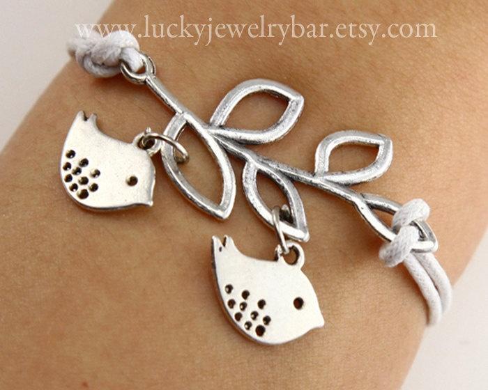 Branch and birds bracelet brand bracelet birds by LuckyJewelryBar