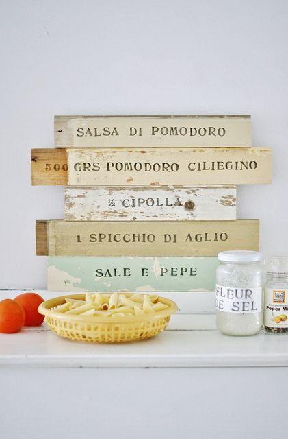 la cucina by wood & wool stool, via Flickr