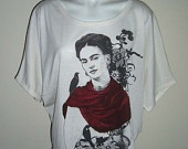 Audrey Hepburn - Roll Up Top T-Shirt Batwing in Nude. $19.99, via Etsy.