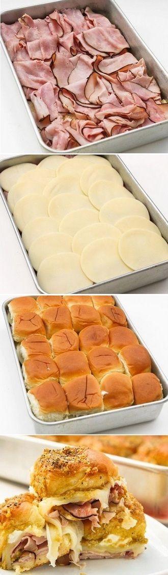 Hawaiian Roll Ham Sandwiches