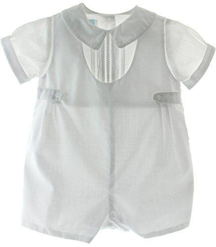 Boys White Baptism Christening Romper Outfit Side Tabs (6M) Petit Ami http://www.amazon.com/dp/B00NK1VA8W/ref=cm_sw_r_pi_dp_y9ydvb1Y3TN2P