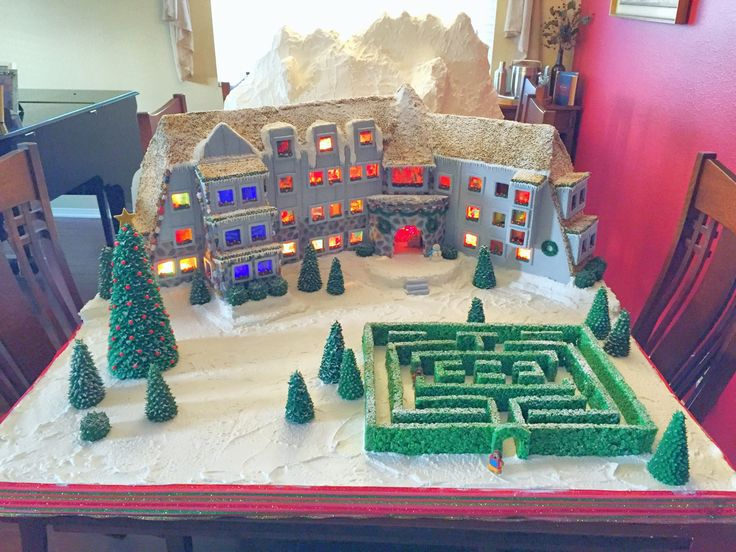 """Gingerbread Overlook Hotel from """"The Shining"""" // Do yourself a favor and click on the link and view all of the pictures. These people win Christmas!!!!!"""