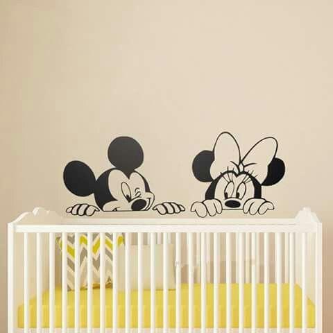 Elegant Wandaufkleber F r Kinder Kinderzimmer Wandtattoos Wandkunst Aufkleber Babyraumdekor Babyzimmer Kinderzimmer Micky Minni Maus Schlafzimmer