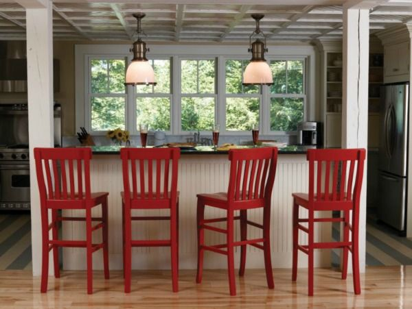 I love these in red but I'd need a different color for my kitchen breakfast bar.