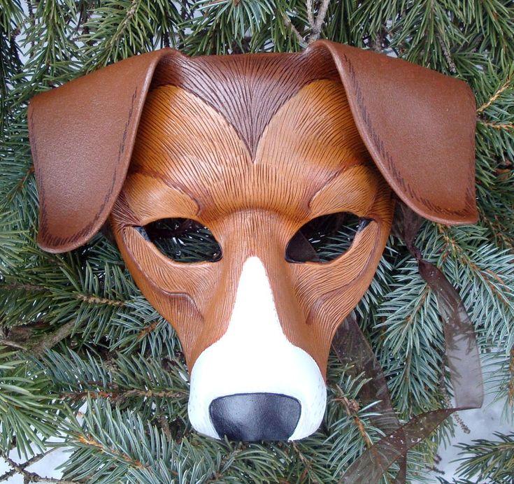 American Foxhound Leather Mask by merimask.deviantart.com on @deviantART