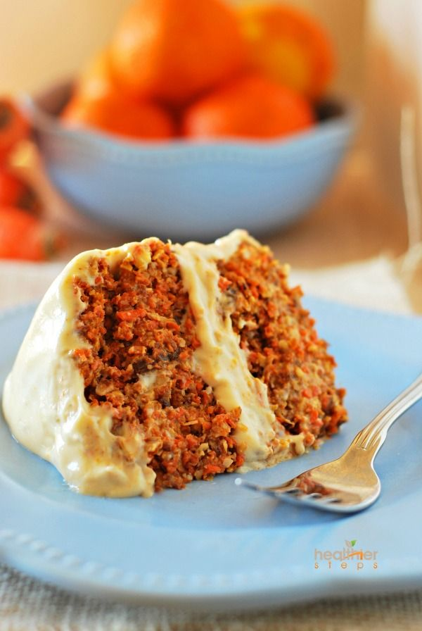 Tropical Carrot Cake with Orange Cashew Frosting: you won't even feel guilty about having seconds (raw, vegan).