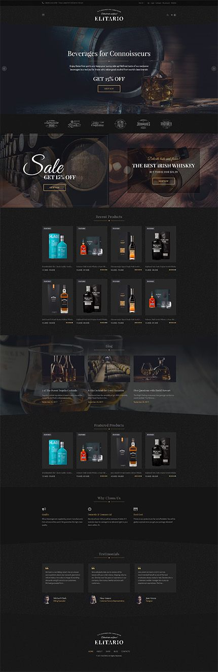 Premium Beverages & Spirits Online Store #WooCommerce #template. #themes #business #responsive #WooCommercethemes