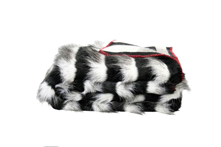 Fake Fur-Decke SKUNK im Streifenlook