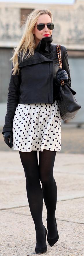 Polka dots and black