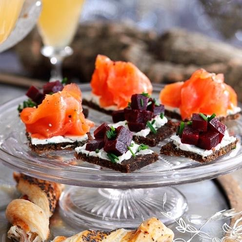Here is our selection of triple-tested canape recipes – from crisp parsnip rolls…