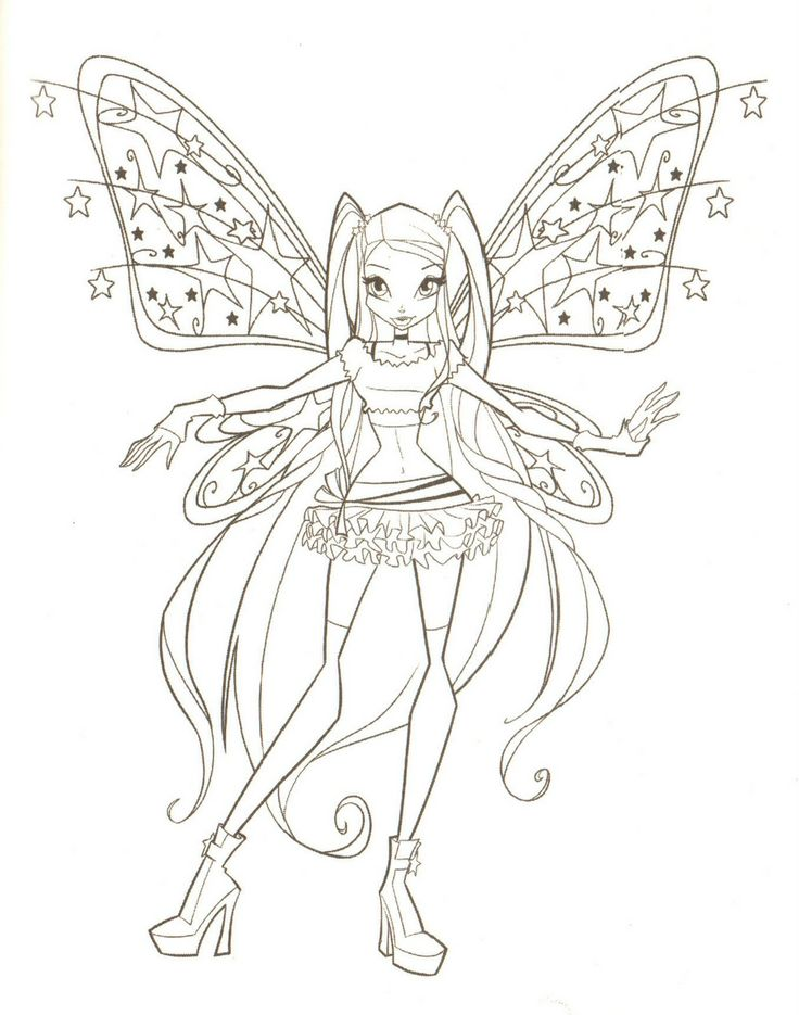 Fairies To Print And Color | FAIRY COLORING PAGES
