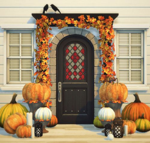 Sims 4 CC's - The Best: Autumn Entrance by Moony Cat