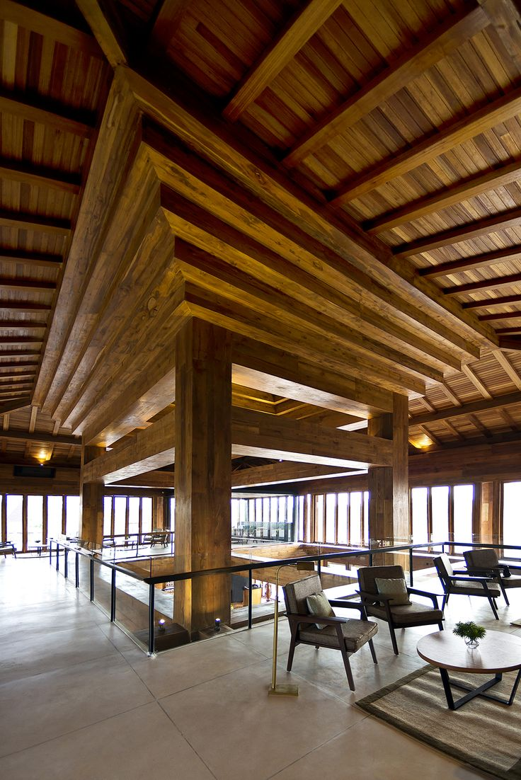 Djati Lounge in Malang, Indonesia by Ellyana Tse  #wood #pool #tropical #restaurant #interior #design
