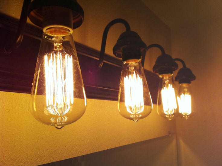 Cool Brushed Bronze 4 Bulb Vintage Style Industrial Edison