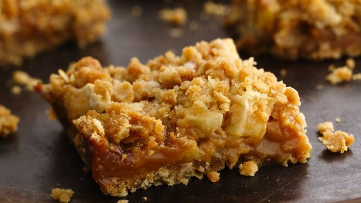 Do you have extra apples but don't feel like making a pie?  Try this easy-to-make bar with layers of brown sugar and oats surrounding apples and melted caramel.