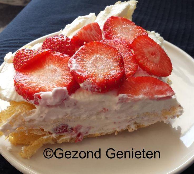 Foto: Een heerlijke aardbeiensoes. Koolhydraatarm, geen suikers toegevoegd en overheerlijk. Klik hier voor het recept: http://gezondgenieten1.jouwweb.nl/taart-en-koekjes/aardbeiensoes. Geplaatst door Gezond Genieten op Welke.nl