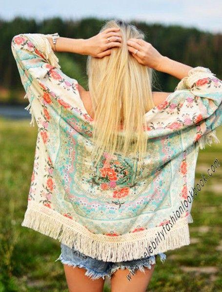 US$27.74 Floral Kimono Wrap #Kimono #Wraps #floral