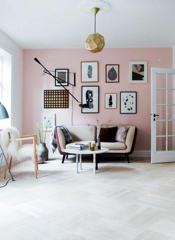 Pin Von Aleksandra Kamila Auf Wohnzimmer Wohnen Altrosa Wandfarbe Rosa Wande