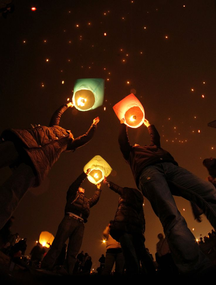 sky  lanterns can be romantic..but its also a fire hazard to where ever these things land on..
