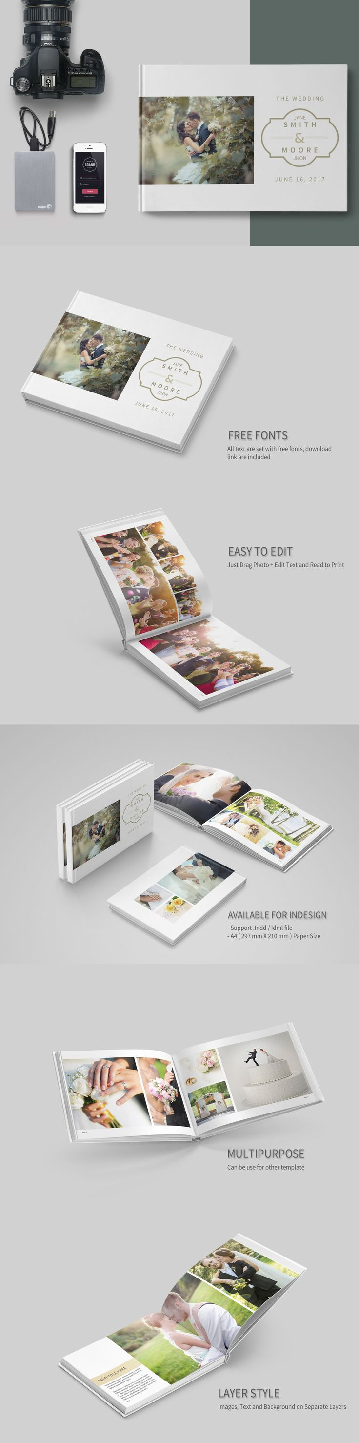 292 best photo album templates images on pinterest | fonts, Powerpoint templates