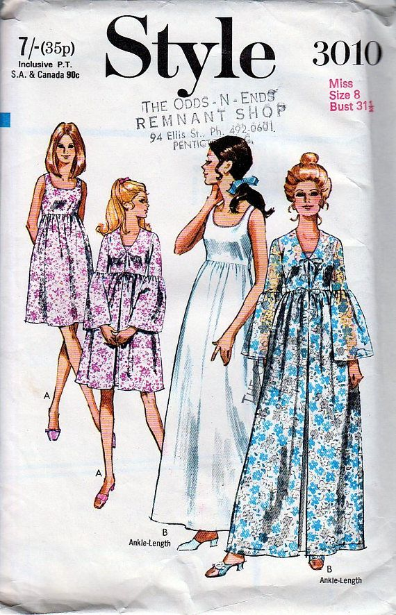Check out this item in my Etsy shop https://www.etsy.com/listing/576297274/vintage-sewing-patterns-1970s-negligee