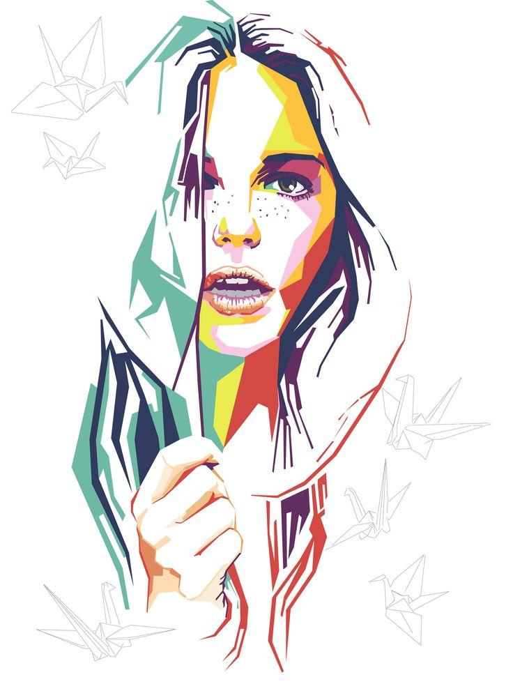 https://flic.kr/p/ywukTZ | Wpap portrait #Lady B |